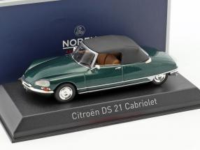 Citroen DS 21 Cabriolet year 1971 green metallic 1:43 Norev