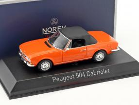Peugeot 504 Cabriolet Construction year 1970 orange 1:43 Norev
