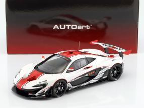 McLaren P1 GTR Baujahr 2015 weiß / rot / schwarz 1:18 AUTOart