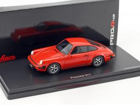 Porsche 911 coupe year 1975 Indian red 1:43 Schuco