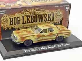 The Dude's Ford Gran Torino year 1973 Movie The Big Lebowski (1998) brown / beige 1:43 Greenlight