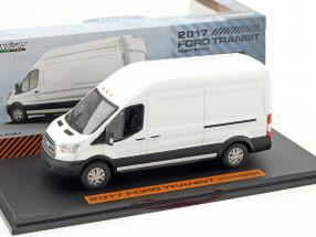 Ford Transit Extended Van High Roof year 2017 white 1:43 Greenlight