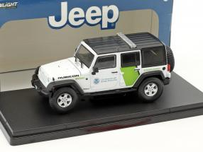 Jeep Wrangler Unlimited Baujahr 2015 US Customs and Border Protection weiß 1:43 Greenlight