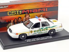 Ford Crown Victoria Police Interceptor Baujahr 2003 TV-Serie CSI: Miami weiß 1:43 Greenlight