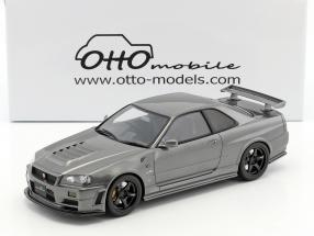 Nissan-Skyline GT-R (R34) Clubman Race Spec Baujahr 1984 grau metallic 1:18 OttOmobile