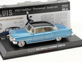 Cadillac Fleetwood Series 60 Elvis Presley Year 1955 blue 1:43 Greenlight