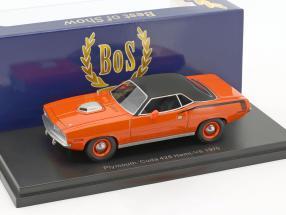 Plymouth Cuda 426 Hemi-V8 Baujahr 1970 orange / schwarz 1:43 BOS-Models