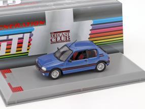 Peugeot 205 GTI Baujahr 1992 blau metallic 1:43 GTI Collection