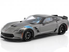 Chevrolet Corvette Grand Sport Baujahr 2017 dunkelgrau 1:18 GT-SPIRIT