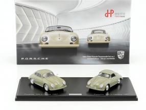 2-Car Set Porsche 356 A Coupe und Porsche 356 A Hardtop Baujahr 1957 khaki 1:43 Spark