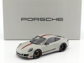 Porsche 911 (991) Carrera GTS mit Vitrine grau / rot 1:18 Spark