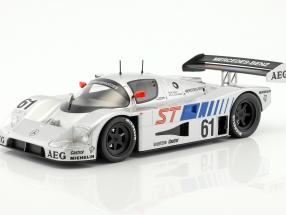 Sauber-Mercedes C9 5.0L Turbo V8 #61 Winner 400km Suzuka 1989 Baldi, Schlesser 1:18 Norev