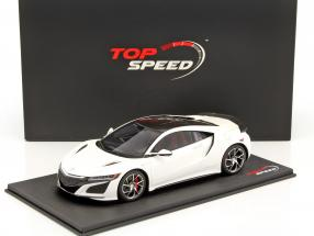 Acura NSX 130R LHD year 2017 white 1:18 TrueScale