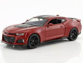 Chevrolet Camaro ZL1 year 2017 dark red 1:24 Maisto