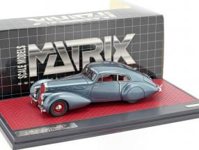 Delage D8-120 S Pourtout Coupe Baujahr 1938 blau metallic 1:43 Matrix