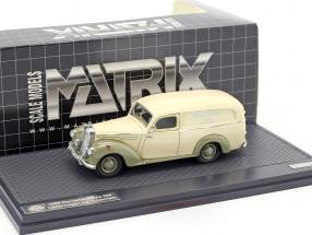 Mercedes-Benz 220 Lieferwagen by Autenrieth Baujahr 1952 beige / graugrün 1:43 Matrix