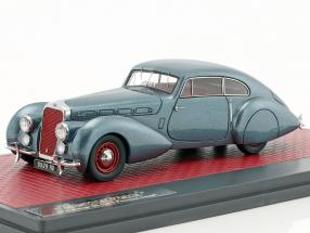 Delage D8-120 S Pourtout coupe year 1938 blue metallic 1:43 Matrix