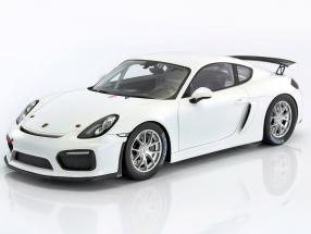 Porsche Cayman GT4 Club Sport year 2017 white 1:18 Spark