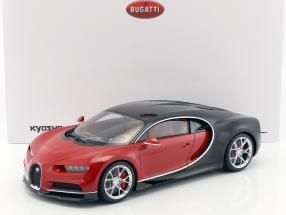 Bugatti Chiron Baujahr 2016 rot / schwarz 1:12 Kyosho