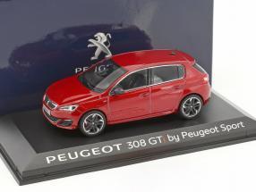 Peugeot 308 GTi by Peugeot Sport Baujahr 2015 rot metallic 1:43 Norev