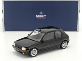 Peugeot 205 GTi 1.9 Baujahr 1988 schwarz 1:18 Norev