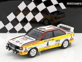 Audi Quattro A2 #4 Röhrl, Geistdörfer Rallye Portugal 1984 1:18 Minichamps