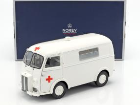 Peugeot D4B Ambulance year 1963 white 1:18 Norev