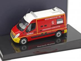 Renault Master Pompiers VSAV Baujahr 2011 rot / gelb / weiß 1:43 Norev