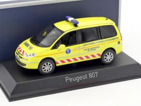 Peugeot 807 SAMU Ambulance Baujahr 2013 gelb 1:43 Norev