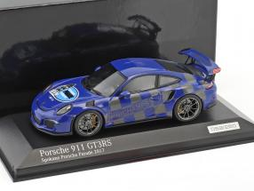 Porsche 911 (991) GT3 RS Spokane Porsche Parade 2017 blue 1:43 Minichamps