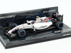 Valtteri Bottas Williams FW38 #77 Brasilien GP Formel 1 2016 1:43 Minichamps