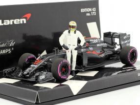 Jenson Button McLaren MP4-31 #22 Final GP Abu Dhabi F1 2016 mit Fahrerfigur 1:43 Minichamps
