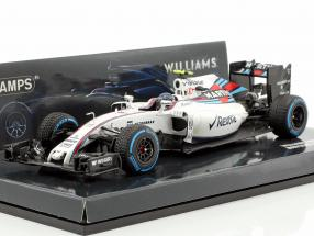 Valtteri Bottas Williams FW38 #77 Brazilian GP formula 1 2016 1:43 Minichamps