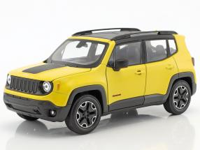 Jeep Renegade Trailhawk Construction year 2016 yellow / black 1:24 Welly