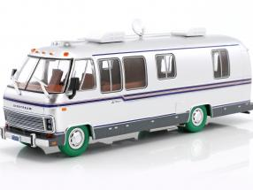 Airstream Excella 280 Turbo Motorhome year 1981 silver / green tire 1:43 Greenlight
