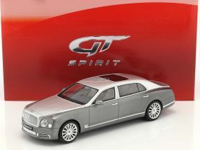 Bentley Mulsanne EWB Baujahr 2016 dunkelgrau / silber 1:18 GT-Spirit