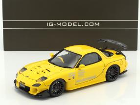 Mazda RX-7 (FD3S) RE Amemiya gelb 1:18 Ignition Model