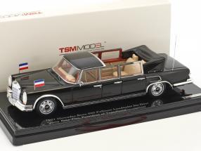 Mercedes-Benz 600 Pullman Landaulet 6-Door Josip Broz Tito Baujahr 1967 schwarz 1:43 True Scale