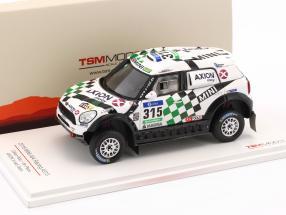 Mini All4 Racing #315 4th Rallye Dakar 2016 Hirvonen, Perin 1:43 True Scale