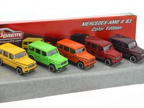5-Car Set Mercedes-Benz AMG G63 Color Edition Geschenkpack 1:64 Majorette