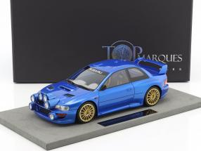 Subaru Impreza Plain Body Version Baujahr 1998 blau metallic 1:18 TopMarques