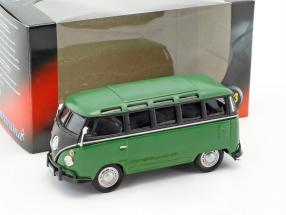 Volkswagen VW T1 Samba Bus grün / schwarz 1:43 Cararama
