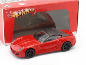 Ferrari 599 GTO Baujahr 2010 rot / schwarz 1:43 HotWheels