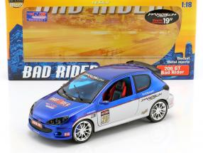 Peugeot 206 GT #25 Tuning Bad Rider blau / silber 1:18 Norev
