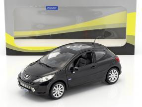 Peugeot 207 Salon de Paris 2008 schwarz 1:18 Norev