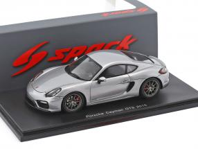 Porsche Cayman GTS year 2015 silver metallic 1:43 Spark