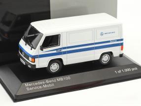 Mercedes-Benz MB 100 Van Mercedes Service white / blue 1:43 WhiteBox
