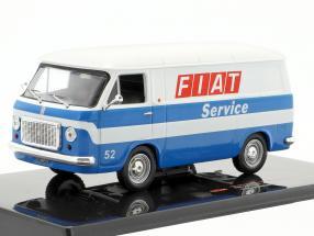 Fiat 238 van Fiat Service year 1971 white / blue 1:43 Ixo