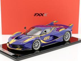 Ferrari FXX-K #81 blau / gelb 1:12 BBR