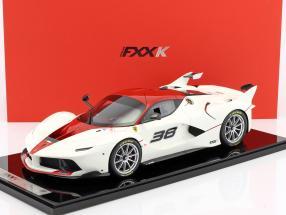 Ferrari FXX-K #38 white / red with showcase 1:12 BBR